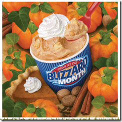 pumpkin pie blizzard